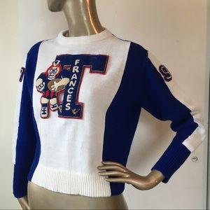"""Vintage 70's  Letterman Sweater """"Frances"""""""